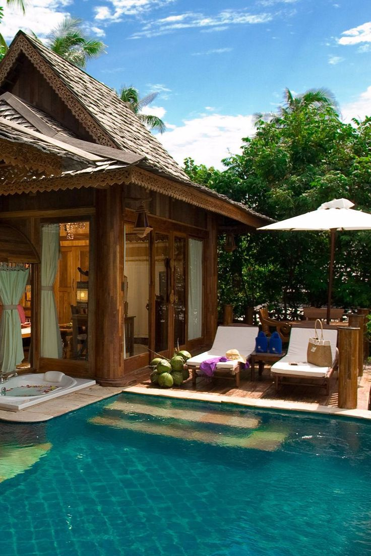The seaview pool villa suite includes a private pool for extra relaxation santhiya koh phangan