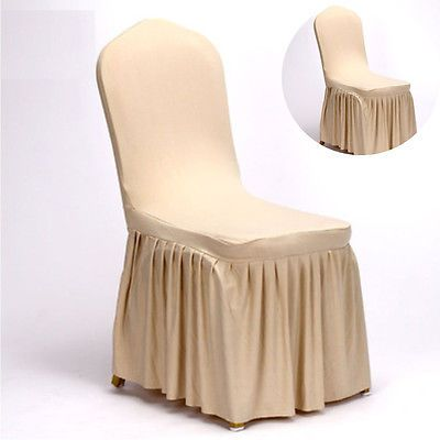 New Pleated Stretch Chair Cover Spandex Lycra Cover Party Wedding Decoration UK
