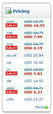 HUrry Up Your .com domain name price is 10.55$ and renewal price is 12.79$ only
