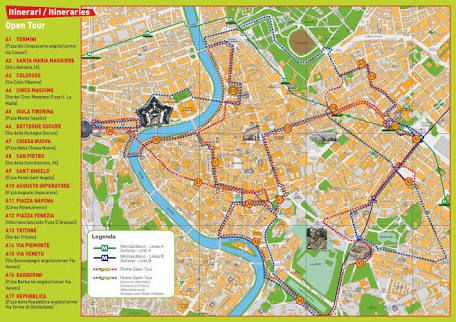 Image result for rome hop on hop off bus route map 110