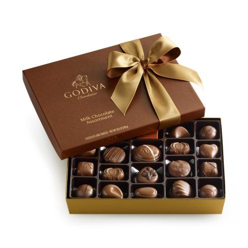 GODIVA Chocolatier 22 pc. Milk Chocolate Gift Box - Classic GODIVA Chocolatier Discloser: By an Amazon Affiliate Link