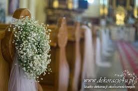 Znalezione obrazy dla zapytania gipsówka aranżacje ślubne kościołów