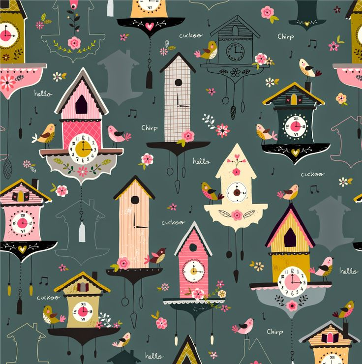 buttercup and dot: Cuckoo Clock Step Repeat Pattern