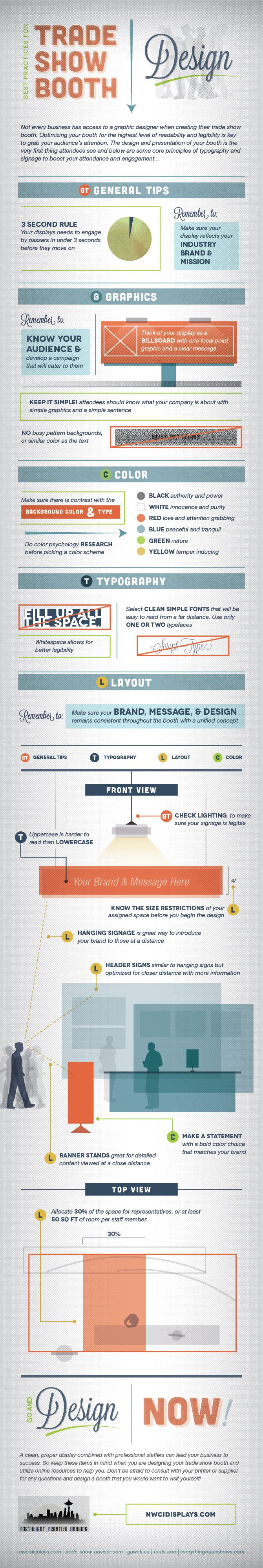Best Practices for Trade Show Booth Design #infographic #TradeShow #Business…