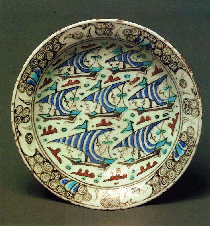Turkey. 17th century  Faience, with underglaze painting.