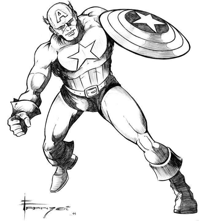 Capitão América - PB Assista ao vídeo de criação deste desenho em meu canal do YouTube: https://www.youtube.com/watch?v=erg93WLZl8U Este desenho foi baseado em uma arte de John Buscema.