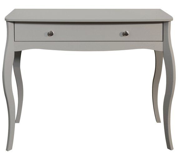 Home Amelie 1 Drawer Dressing Table Grey Dressing Table Argos 1 Drawer Dressing Table White Dressing Tables
