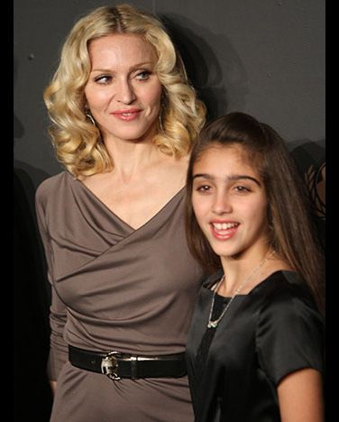 Madonna and Lourdes    Madonna's 11-year-old daughter Lourdes definitely picked up her mother's fierce fashion sense.
