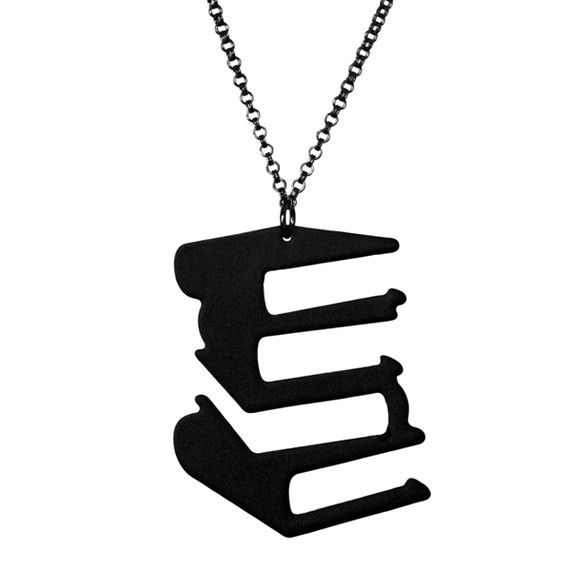Hardcover Silhouette Necklace by arohasilhouettes on Etsy