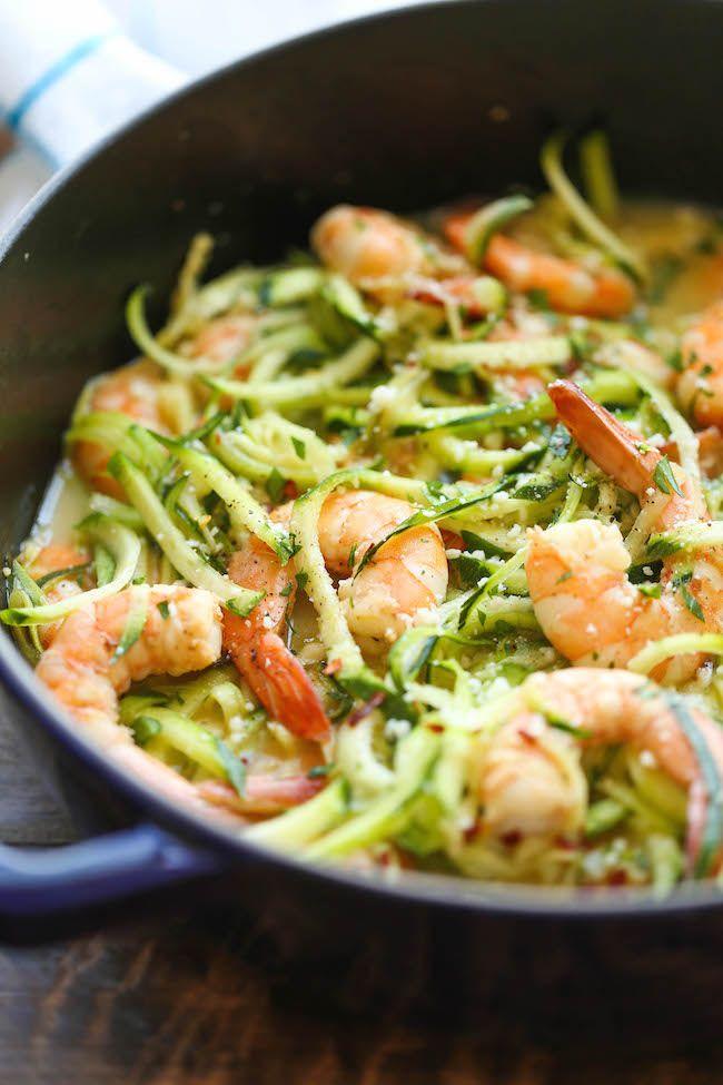 Zucchini Shrimp Scampi