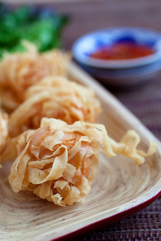 Fried shrimp balls with wonton skin. They're crispy, yummy and make a perfect appetizer. Easy fried shrimp balls recipe with simple ingredients.