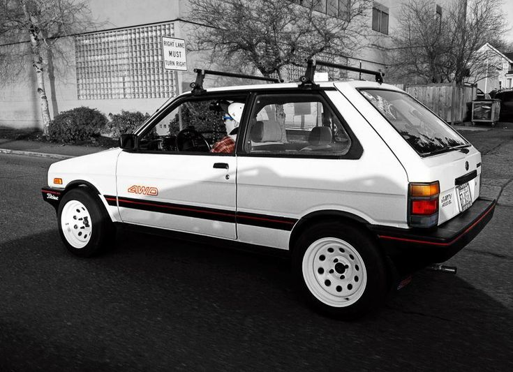 Subaru Justy, retro 4wd !