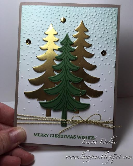 Christmas Stamp-a-Stack card - still spots left for class this week!