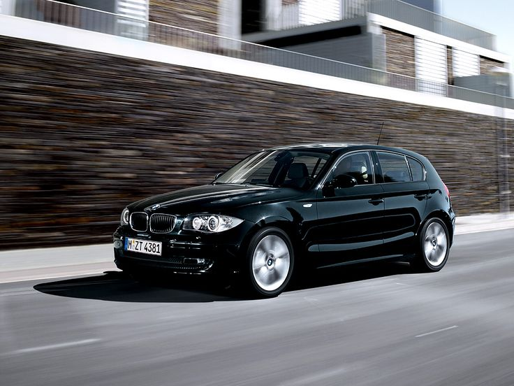 BMW 1 Series Black - A nice new car that I can put my business logo on and drive around in style!