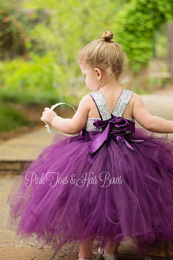 Flower girl dress-birthday dress-plum flower girl by GlitterMeBaby