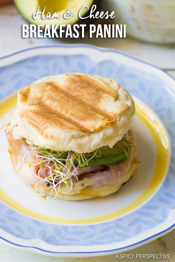 The Best Ham and Cheese Breakfast Panini