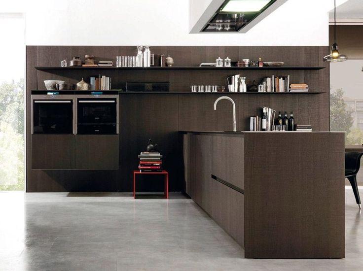 Стенка с полками для кухни и зала HORIZON by Euromobil