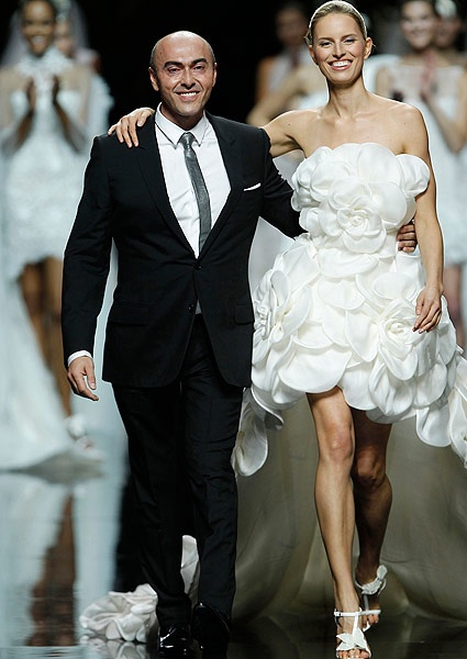 Karolina Kurkova and Manuel Mota for Pronovias 2013