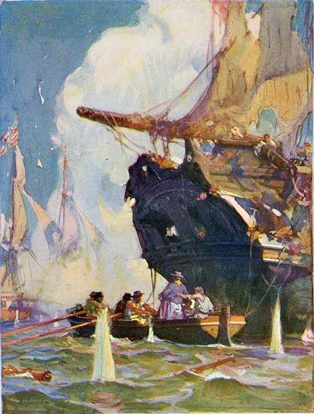 Howard Pyle pirate ship