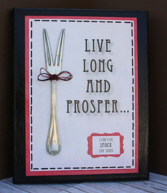 Upcycled Spock FoRkS..Trekkies...Spock with humor..Gift..homedecor..Star Trek..TreKKies..