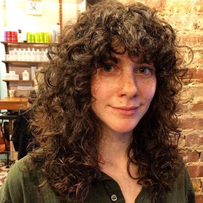 Retro Curly Shag Cut