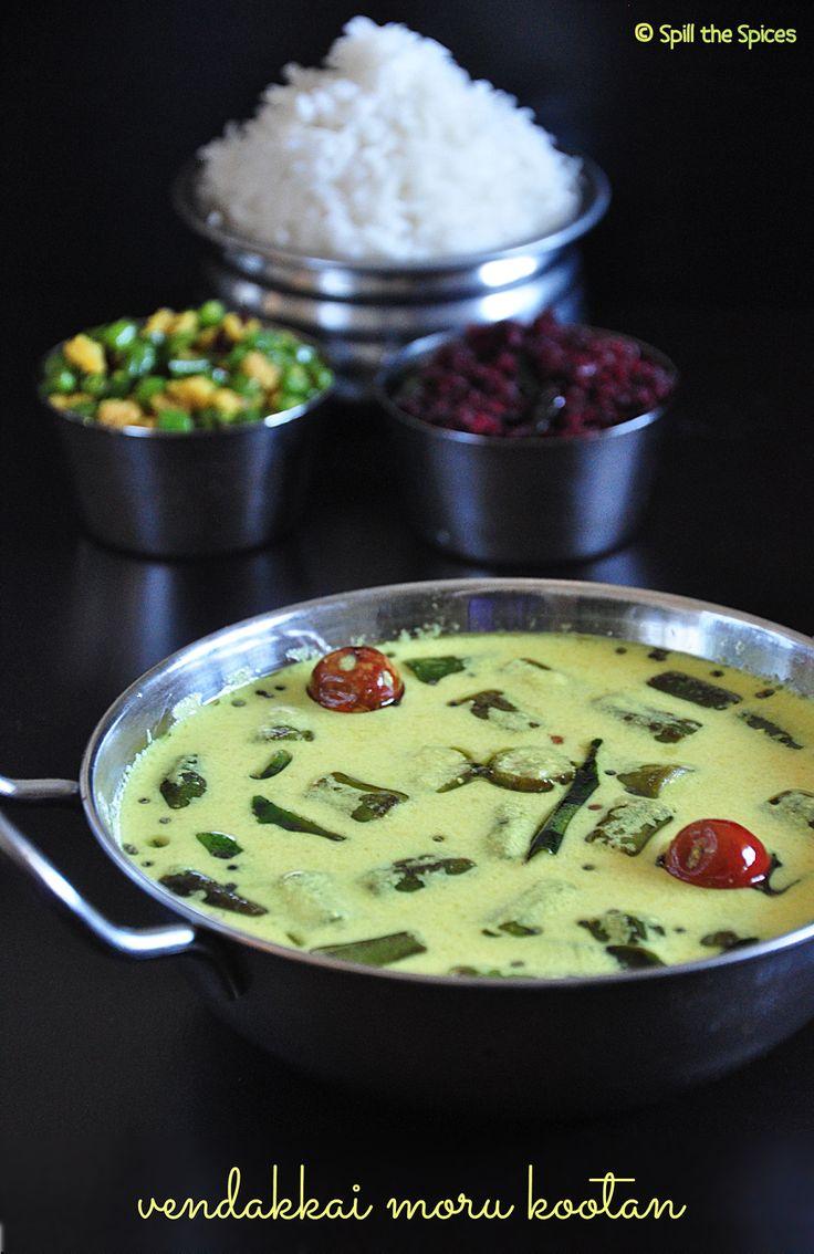 58 best tamil food vegetarian images on pinterest indian food vendakkai moru kootan okra buttermilk curry forumfinder Images