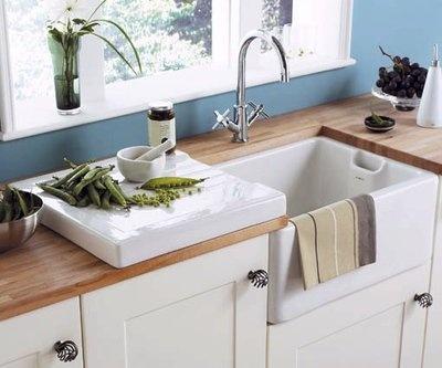 Belfast Sink / Butler White Ceramic Kitchen Drainer BNIB RRP £199