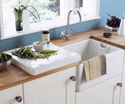 Belfast Sink / Butler White Ceramic Kitchen Drainer