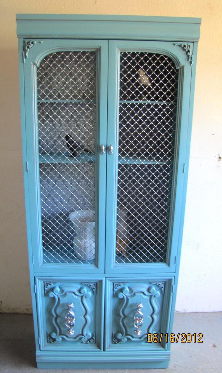 Mini Blue Hutch for Lori's Shoe Collection