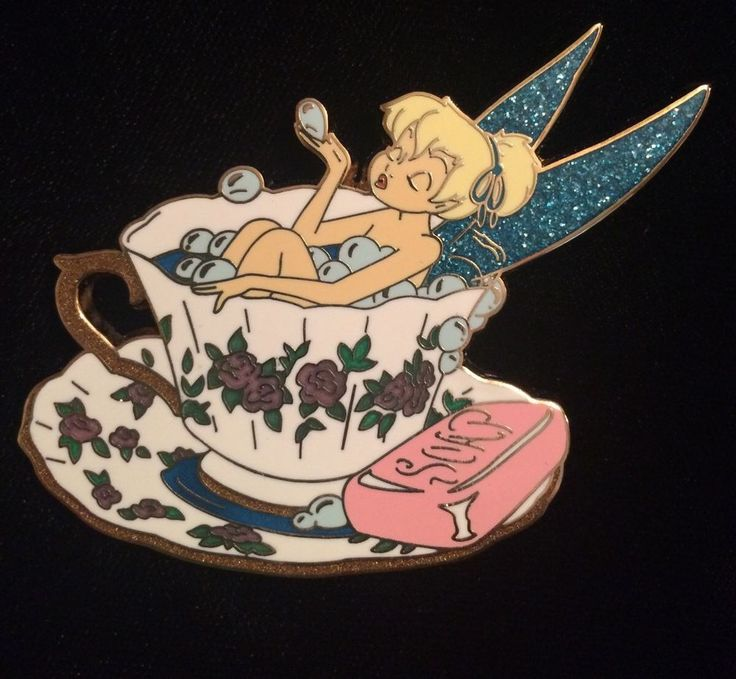 RARE Disney Auctions Tinker Bell LE 100 Day of Beauty Teacup Bubble Bath HTF Pin