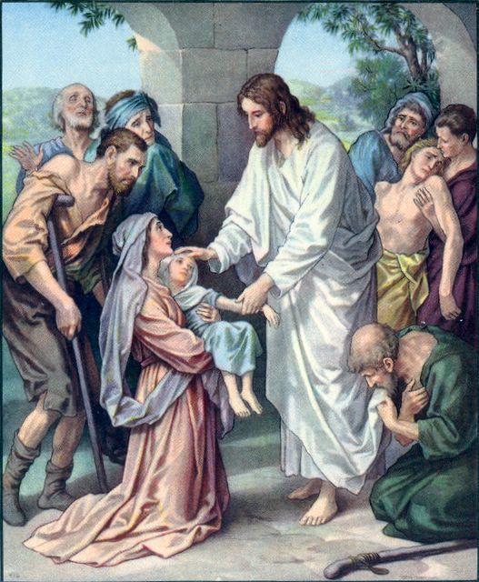 Jesus healed them all.