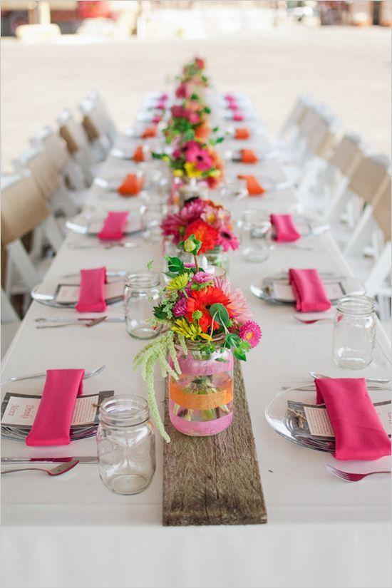 Farm wedding tablescape