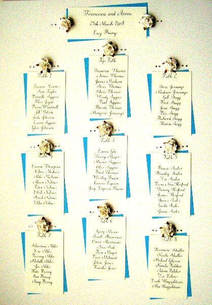 make your own wedding table plan
