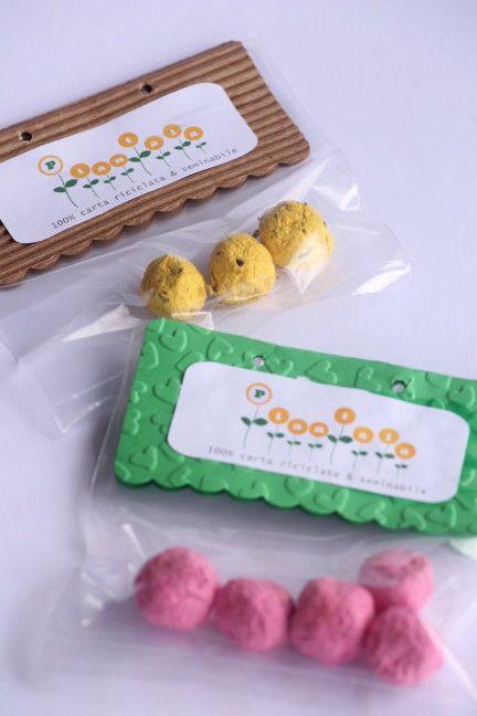 Bombe seminabili,originale idea per bomboniere ecologiche #seed paper#green wedding #seed bombs www.lacasaditania.it