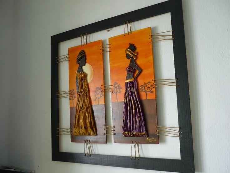 africanas con canasto fibrofacil manualidades - Buscar con Google