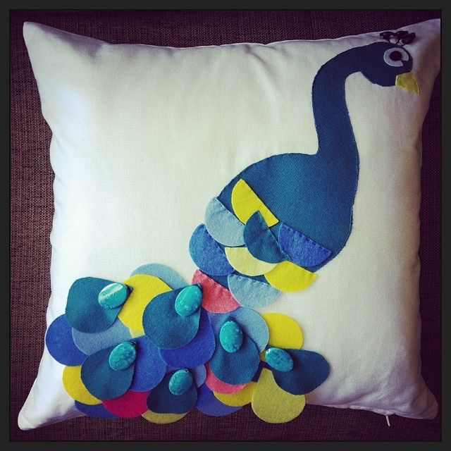 For a special little girl. Hope Mrs Peacock is cosy on her bed!
