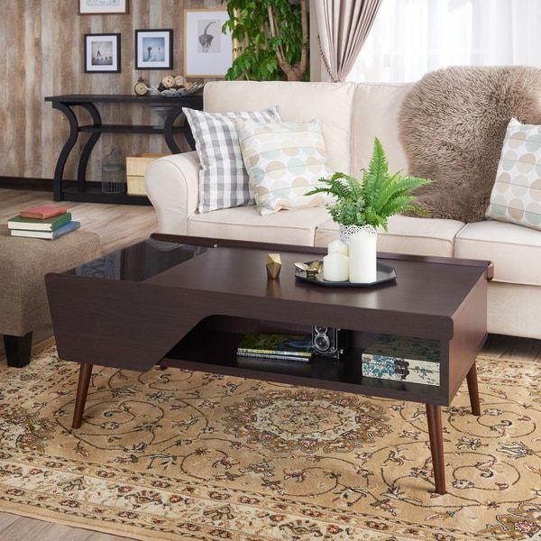 Furniture of America Telens Mid-Century Modern Espresso Coffee Table