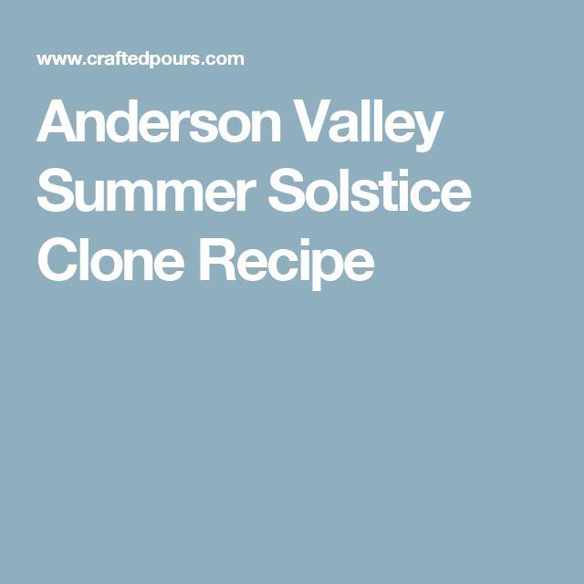 Anderson Valley Summer Solstice Clone Recipe