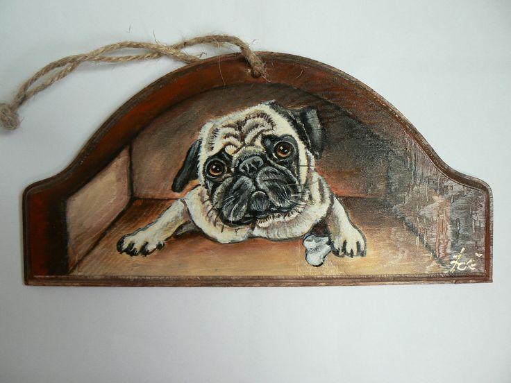 targa in legno ad uso  'benvenuto' o per portachiavi