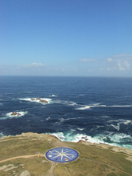 this is the view from the torra de Hércules in a coruña, ...it is breath taking! seeing this as the sea air tosses your hair around :) ...miss it