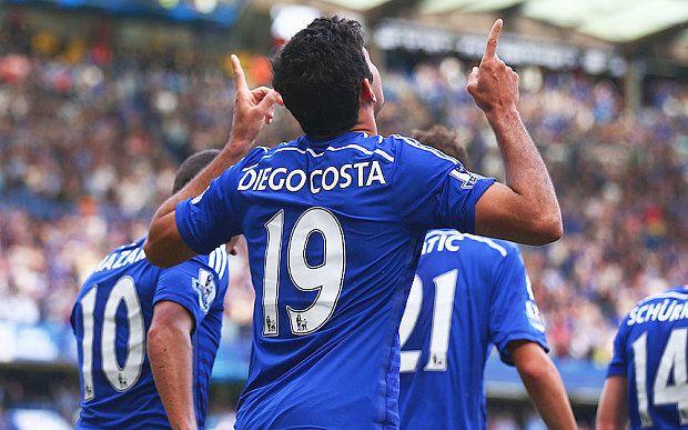 London – Diego Costa tampil gemilang dengan mencetak hat-trick saat Chelsea mengalahkan Swansea City 4 – 2 pada lanjutan Liga Inggris di Stadion Stamford Bridge, Sabtu (13/9/2014). Raihan tiga poin ini membuat Chelsea kokoh di puncak klasmen sementara Premier League dengan poin 12 dari empat laga. Chelsea mengambil alih permainan sejak menit -menit awal, tapi sayang malah mereka yang kebobolan duluan di menit 11′.