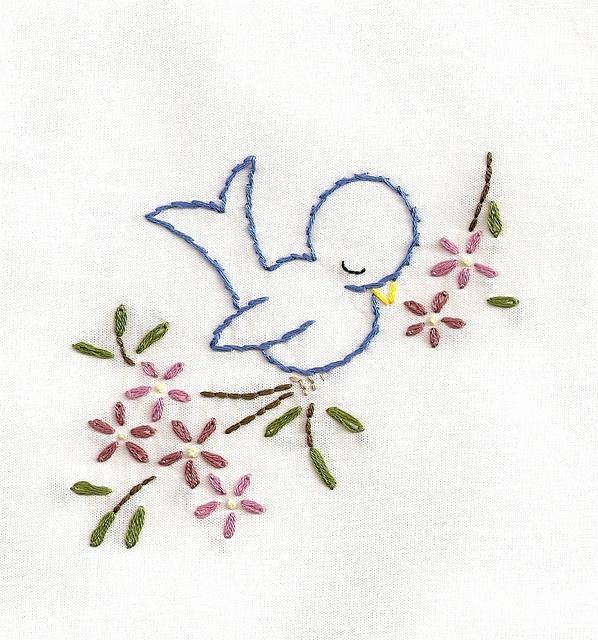napkin - napping bird2 by bookwormbethie, via Flickr