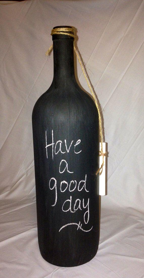 Write a resolution on them? Chalkboard Wine Bottle. Wedding Table by RandomCraftsBySundee, $10.00