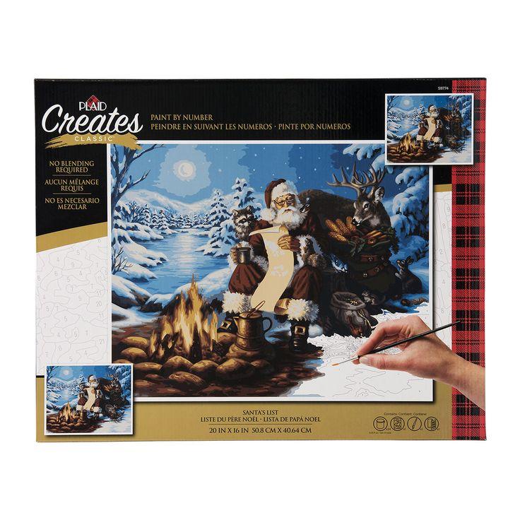 Plaid ® Paint by Number - Santa's List