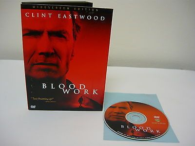 Blood Work DVD (WIDESCREEN) Action Adventure Movie Wanda De Jesus Clint Eastwood
