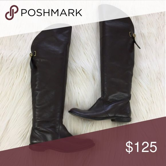 Coach over the knee boots Leather upper and soles. Riding boot style Coach Shoes Over the Knee Boots