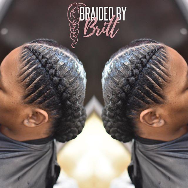 2 Feedins Stitch Braidedbybritt Braids Orlandobraider Orlandobraids Orlandostylist Orlandohai African Braids Hairstyles Hair Styles African Hairstyles