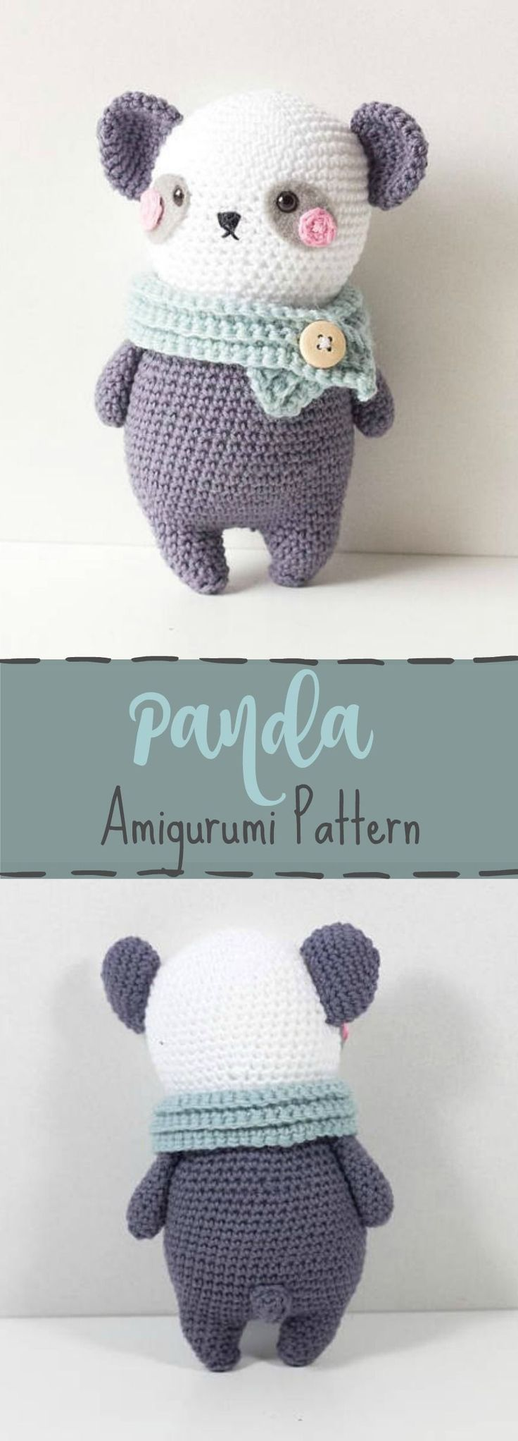 Crochet pattern Panda Bear Amigurumi, Amigurumi pattern Panda Bear, crochet tutorial Panda Bear, Stuffed Animal crochet pattern Panda ...#affiliate #crochetdolls