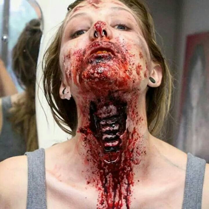 Nasty Halloween makeup