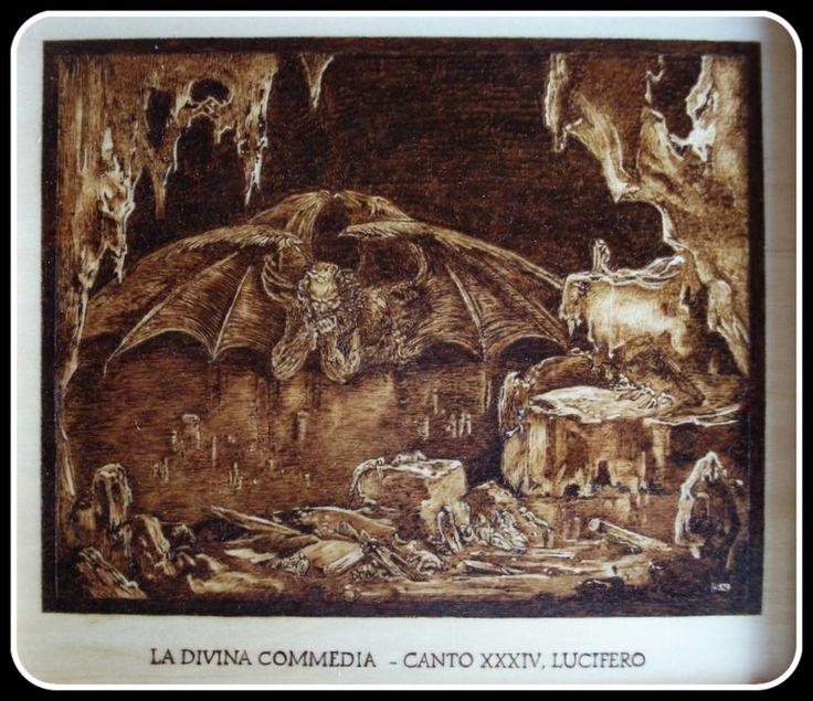 """""""#Lucifero"""", #Illustrazione #Inferno di #Dante di Simone Naldini #artigianato #pirografia http://omaventiquaranta.blogspot.it/2013/11/linferno-dantesco-di-simone-naldini.htm"""